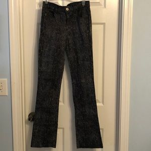 GUESS High Rise Sneak Print Skinny Jeans